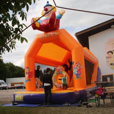 Haus der Gesundheit, Eröffnung, Hüpfburg für die Kinder