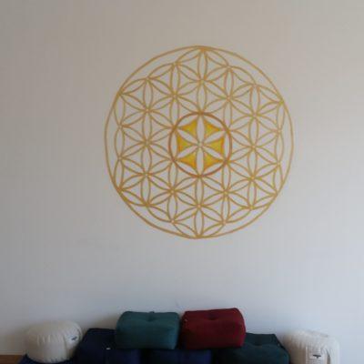 Raum Blume des Lebens 60m²